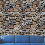 Taş Desenli Duvar Kağıdı safir