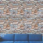 Taş Desenli Duvar Kağıdı Renkli