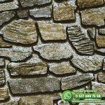 Taş Desenli Duvar Kağıdı Yeşil