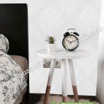 Yatak Odası Duvar Kağıdı Damask Beyaz