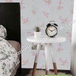 Yatak Odası Duvar Kağıdı Pembe Beyaz