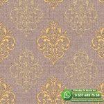Yatak Odası Duvar Kağıdı Damask Sarı