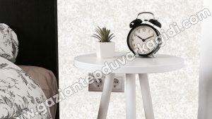 Yatak Odası Duvar Kağıdı Beyaz Ebru