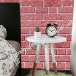 yatak odası duvar kağıdı kırmızı tuğla