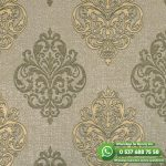 Yatak Odası Duvar Kağıdı Damask Krem Sarı