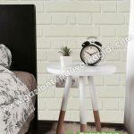 yatak odası duvar kağıdı krem tuğla