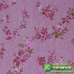 Yatak Odası Duvar Kağıdı Mor Çiçek