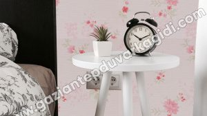 Yatak Odası Duvar Kağıdı Pembe Çiçek