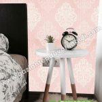 Yatak Odası Duvar Kağıdı Damask Pembe