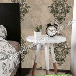 Yatak Odası Duvar Kağıdı Siyah Krem