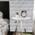 yatak odası duvar kağıdı tuğla gri