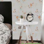 Yatak Odası Duvar Kağıdı Turuncu Çiçek
