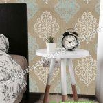 Yatak Odası Duvar Kağıdı Damask Yeşil