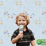 Çocuk Odası Duvar Kağıdı Ayıcıklı Mavi