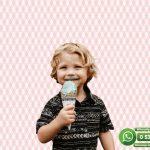 Çocuk Odası Duvar Kağıdı Baklava Dilim Pembe Beyaz