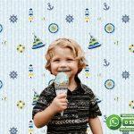 Çocuk Odası Duvar Kağıdı Beyaz Mavi Yelken