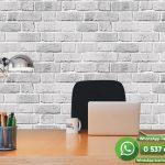 Genç Odası Duvar Kağıdı Beyaz Taş