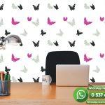 Lila Siyah Gri Kuş Duvar Kağıdı