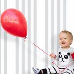 Bebek Odası Duvar Kağıdı Gri Beyaz