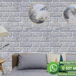 Salon Duvar Kağıdı Gri Taş