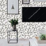 Çizgili Siyah Beyaz Duvar Kağıdı