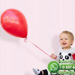 Bebek Odası Duvar Kağıdı Kırmızı Beyaz Çizgi