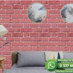 Salon Duvar Kağıdı Kırmızı Taş