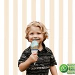 Çocuk Odası Duvar Kağıdı Krem Beyaz Çizgi