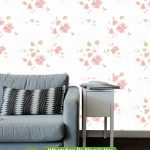 Kırmızı Çiçek Beyaz Duvar Kağıdı