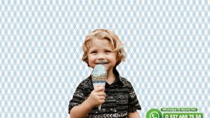 Çocuk Odası Duvar Kağıdı Mavi Beyaz Baklava