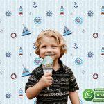 Çocuk Odası Duvar Kağıdı Mavi Gemi Beyaz