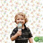 Çocuk Odası Duvar Kağıdı Mavi Gül Beyaz