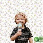 Çocuk Odası Duvar Kağıdı Mor Sarı Çiçek
