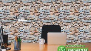 Genç Odası Duvar Kağıdı Renkli Taş