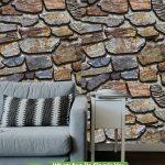 Oturma Odası Duvar Kağıdı Taş