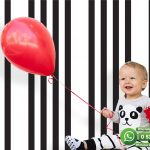 Bebek Odası Duvar Kağıdı Siyah Beyaz