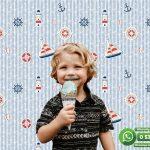 Çocuk Odası Duvar Kağıdı Yelken Mavi Beyaz